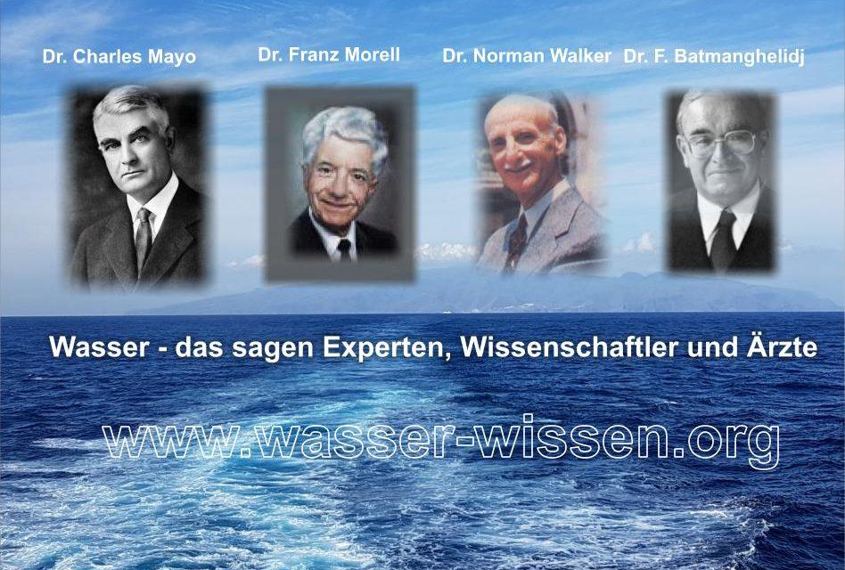 Ärzte und Wissenschaftler warnen vor schlechtem Wasser (Teil 1)